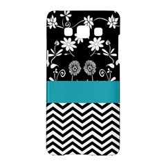 Flowers Turquoise Pattern Floral Samsung Galaxy A5 Hardshell Case  by BangZart
