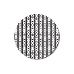 Pattern Background Texture Black Magnet 3  (round) by BangZart