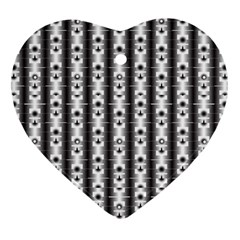 Pattern Background Texture Black Heart Ornament (two Sides) by BangZart