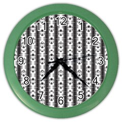 Pattern Background Texture Black Color Wall Clocks by BangZart