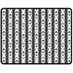 Pattern Background Texture Black Double Sided Fleece Blanket (medium)  by BangZart