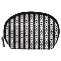 Pattern Background Texture Black Accessory Pouches (large)  by BangZart