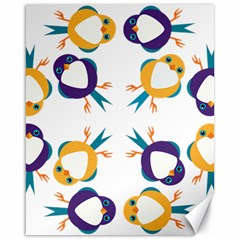 Pattern Circular Birds Canvas 16  X 20