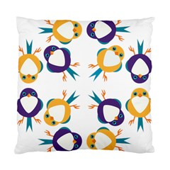 Pattern Circular Birds Standard Cushion Case (two Sides) by BangZart