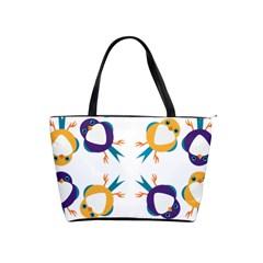 Pattern Circular Birds Shoulder Handbags by BangZart