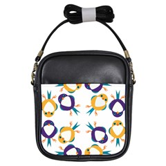 Pattern Circular Birds Girls Sling Bags by BangZart