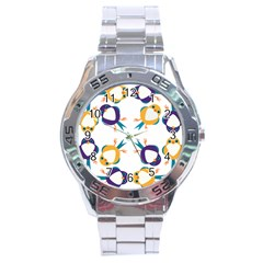 Pattern Circular Birds Stainless Steel Analogue Watch by BangZart