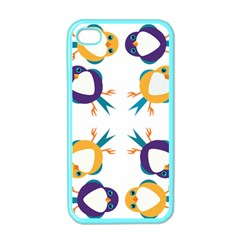 Pattern Circular Birds Apple Iphone 4 Case (color) by BangZart