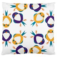 Pattern Circular Birds Large Cushion Case (one Side)