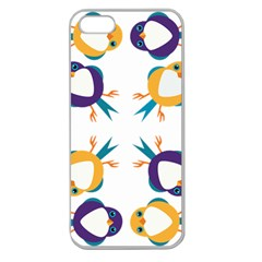 Pattern Circular Birds Apple Seamless Iphone 5 Case (clear) by BangZart