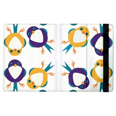 Pattern Circular Birds Apple Ipad 3/4 Flip Case