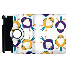 Pattern Circular Birds Apple Ipad 2 Flip 360 Case by BangZart