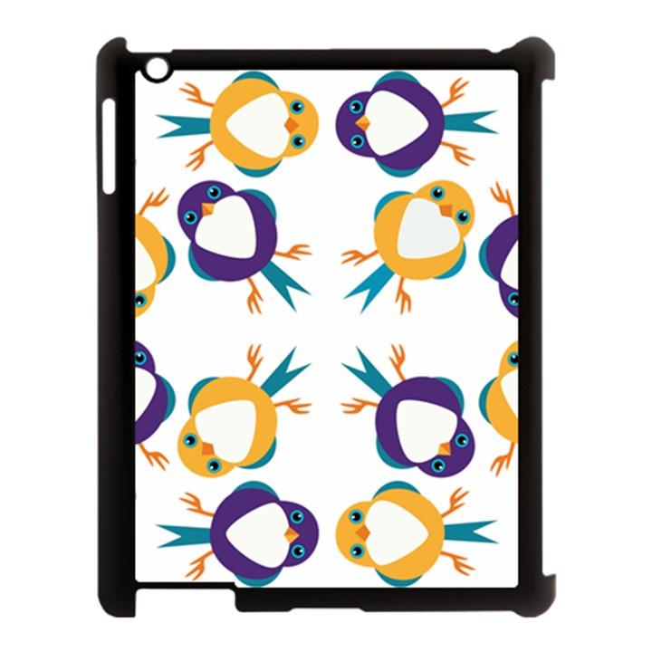 Pattern Circular Birds Apple iPad 3/4 Case (Black)