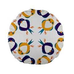 Pattern Circular Birds Standard 15  Premium Round Cushions by BangZart