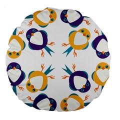 Pattern Circular Birds Large 18  Premium Round Cushions by BangZart
