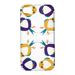 Pattern Circular Birds Apple Iphone 4/4s Hardshell Case With Stand