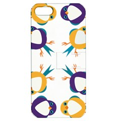 Pattern Circular Birds Apple Iphone 5 Hardshell Case With Stand by BangZart