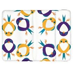 Pattern Circular Birds Samsung Galaxy Tab 7  P1000 Flip Case by BangZart