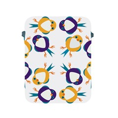 Pattern Circular Birds Apple Ipad 2/3/4 Protective Soft Cases by BangZart