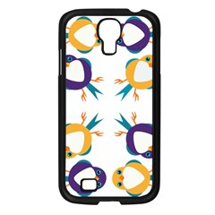 Pattern Circular Birds Samsung Galaxy S4 I9500/ I9505 Case (black) by BangZart