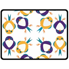 Pattern Circular Birds Double Sided Fleece Blanket (large)