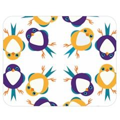 Pattern Circular Birds Double Sided Flano Blanket (medium)  by BangZart