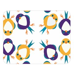 Pattern Circular Birds Double Sided Flano Blanket (large)  by BangZart