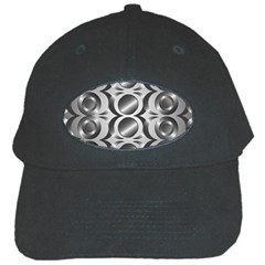Metal Circle Background Ring Black Cap