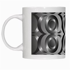 Metal Circle Background Ring White Mugs by BangZart