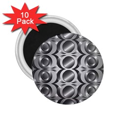 Metal Circle Background Ring 2 25  Magnets (10 Pack)