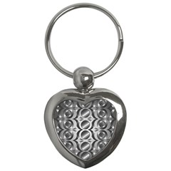 Metal Circle Background Ring Key Chains (heart)  by BangZart