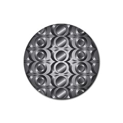 Metal Circle Background Ring Rubber Coaster (round)  by BangZart
