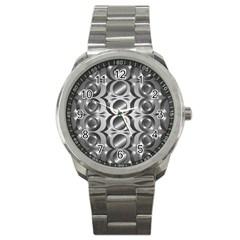 Metal Circle Background Ring Sport Metal Watch