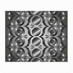 Metal Circle Background Ring Small Glasses Cloth (2-Side)