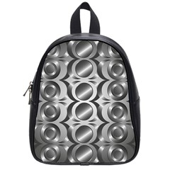 Metal Circle Background Ring School Bags (small)  by BangZart