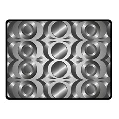 Metal Circle Background Ring Fleece Blanket (small)