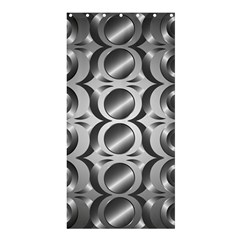 Metal Circle Background Ring Shower Curtain 36  X 72  (stall)  by BangZart
