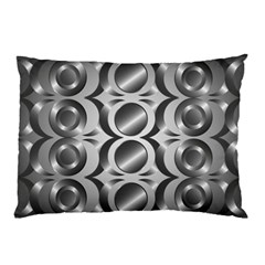 Metal Circle Background Ring Pillow Case (two Sides)
