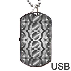 Metal Circle Background Ring Dog Tag Usb Flash (two Sides)