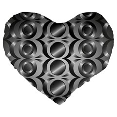 Metal Circle Background Ring Large 19  Premium Heart Shape Cushions by BangZart