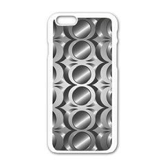 Metal Circle Background Ring Apple Iphone 6/6s White Enamel Case by BangZart