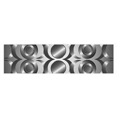 Metal Circle Background Ring Satin Scarf (oblong)