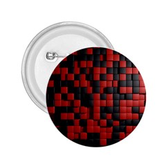 Black Red Tiles Checkerboard 2 25  Buttons by BangZart