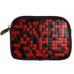 Black Red Tiles Checkerboard Digital Camera Cases by BangZart