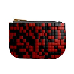 Black Red Tiles Checkerboard Mini Coin Purses by BangZart