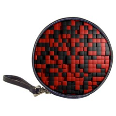 Black Red Tiles Checkerboard Classic 20 Cd Wallets by BangZart