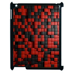 Black Red Tiles Checkerboard Apple Ipad 2 Case (black) by BangZart