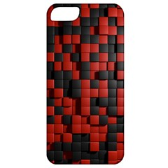 Black Red Tiles Checkerboard Apple Iphone 5 Classic Hardshell Case by BangZart