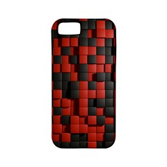 Black Red Tiles Checkerboard Apple Iphone 5 Classic Hardshell Case (pc+silicone) by BangZart