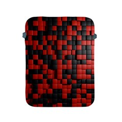 Black Red Tiles Checkerboard Apple Ipad 2/3/4 Protective Soft Cases by BangZart